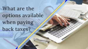 What are the options available when paying back taxes?